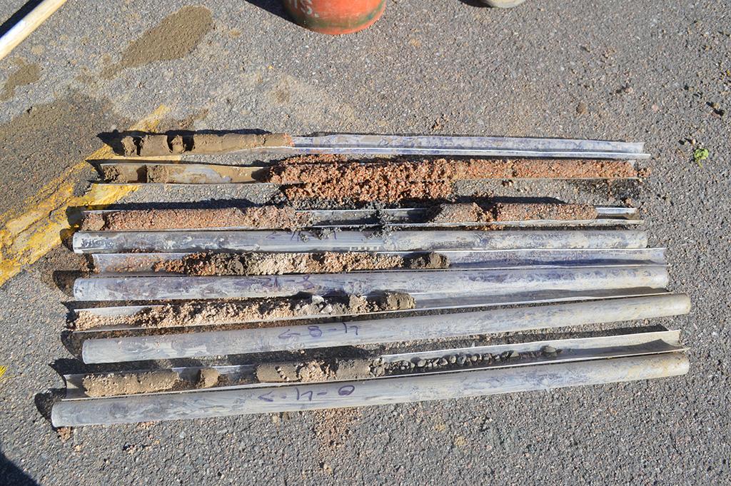 Pre-Excavation Soil Sampling Cores